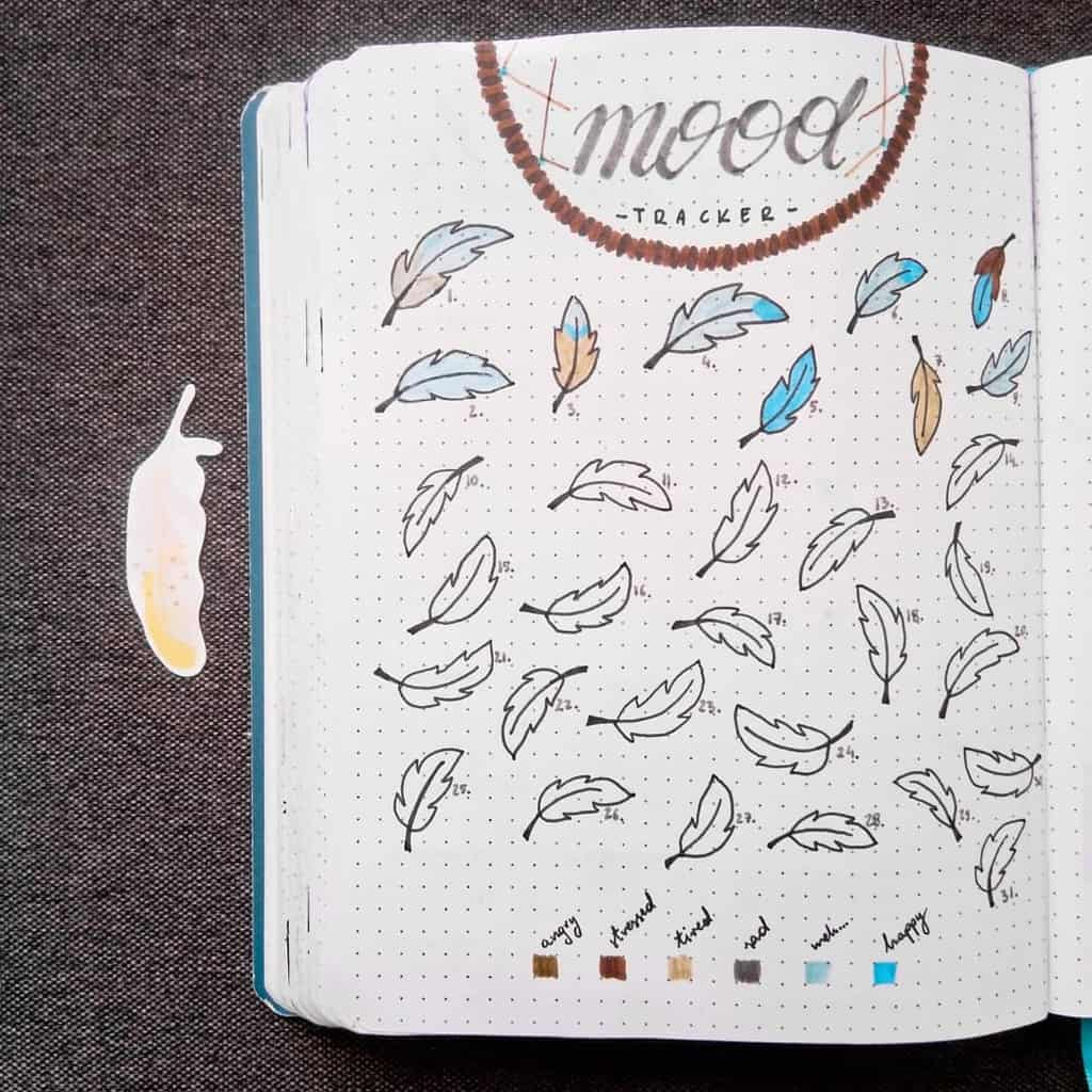 Boho Bullet Journal Theme Inspirations - spread by @bullet.by.shecat | Masha Plans