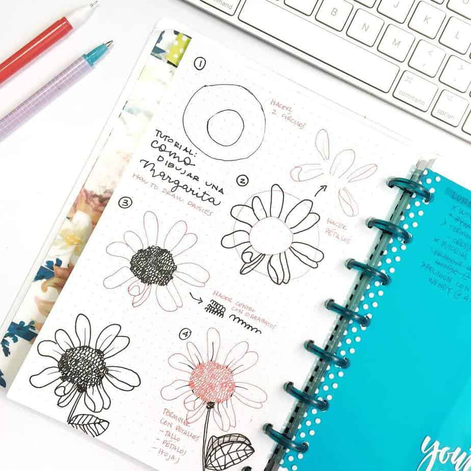 How To Draw Flower Doodles - tutorial by @diario_tropical | Masha Plans