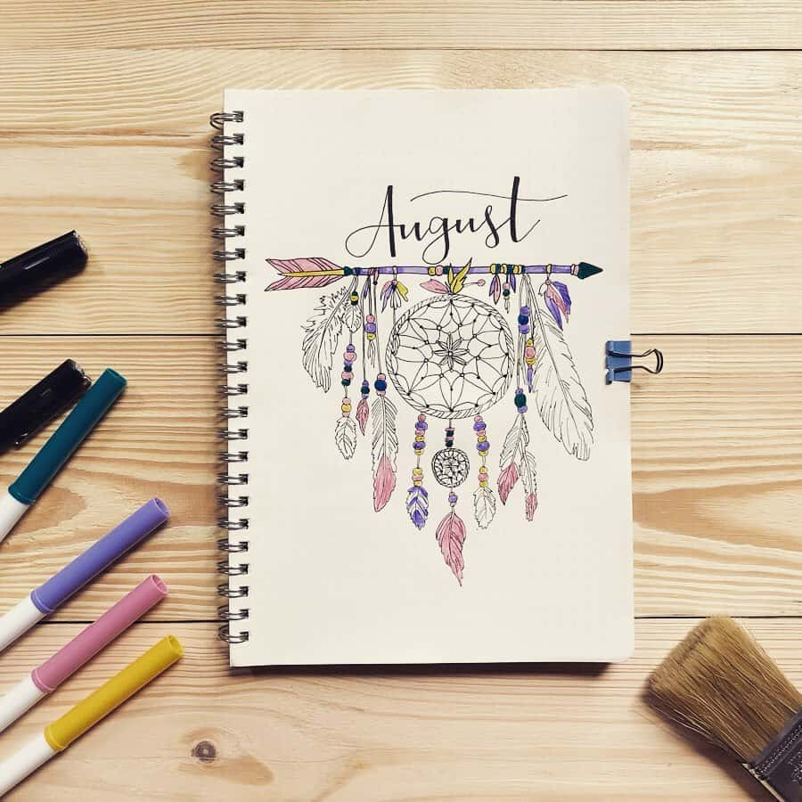 Boho Bullet Journal Theme Inspirations - spread by @_differenz | Masha Plans
