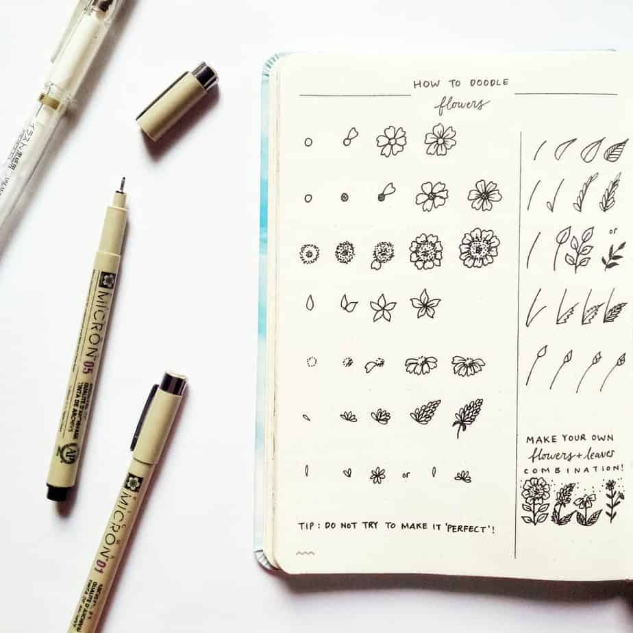 How To Draw Floral Doodles - tutorial by @jen.calligraphy | Masha Plans