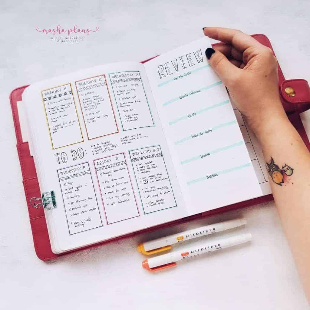 Boho Bullet Journal Theme Inspirations | Masha Plans