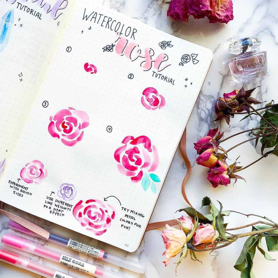 How To Draw Flower Doodles - tutorial by @misfit.plans | Masha Plans