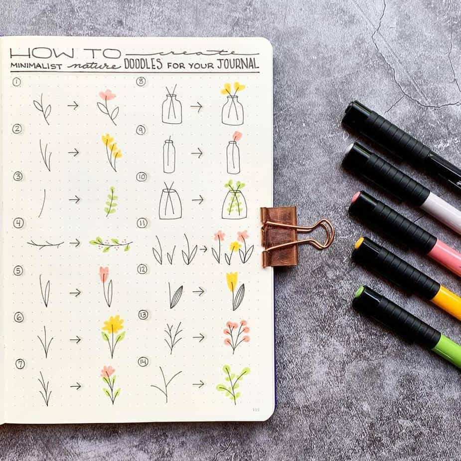 How To Draw Floral Doodles - tutorial by @plansthatblossom | Masha Plans