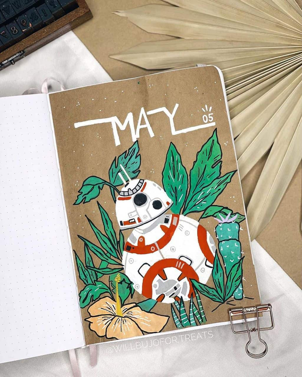 Star Wars Themed Bullet Journal Page by @willbujofor.treats | Masha Plans