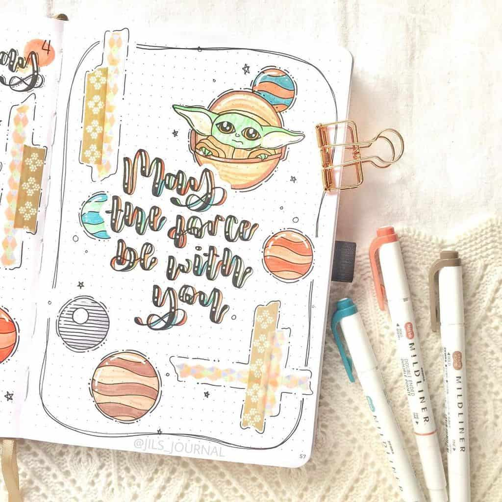 Star Wars Themed Bullet Journal Page by @jils_journal | Masha Plans