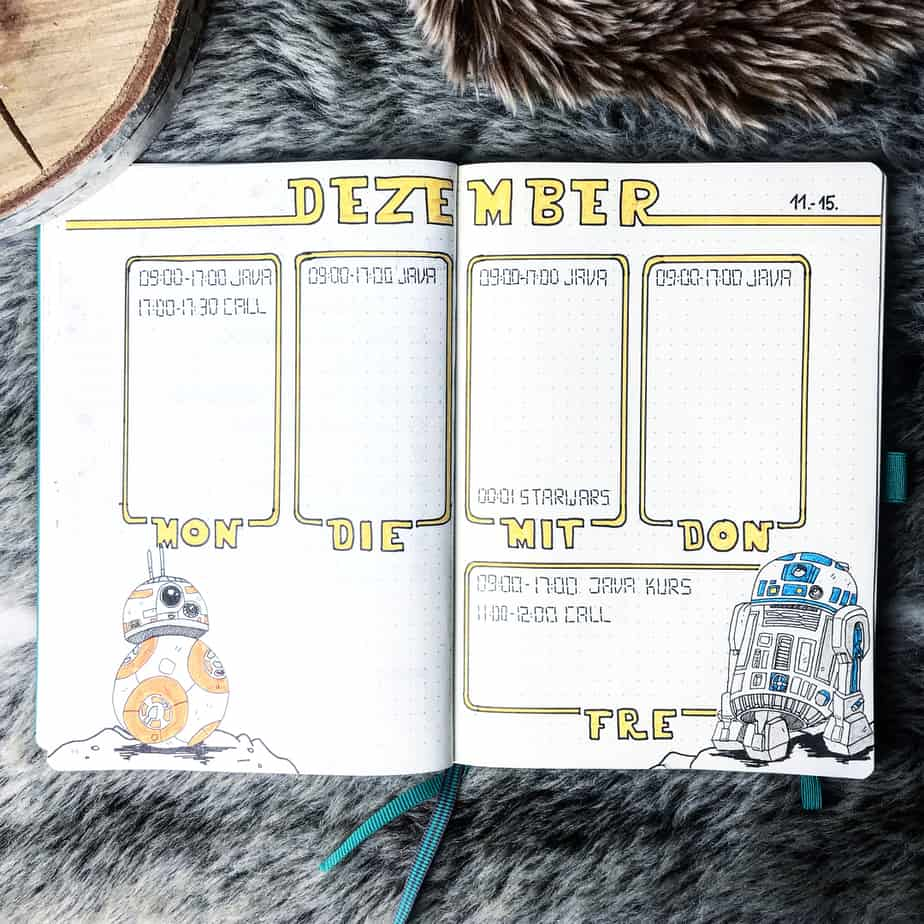 Star Wars Themed Bullet Journal Page by @ohneweiteres
