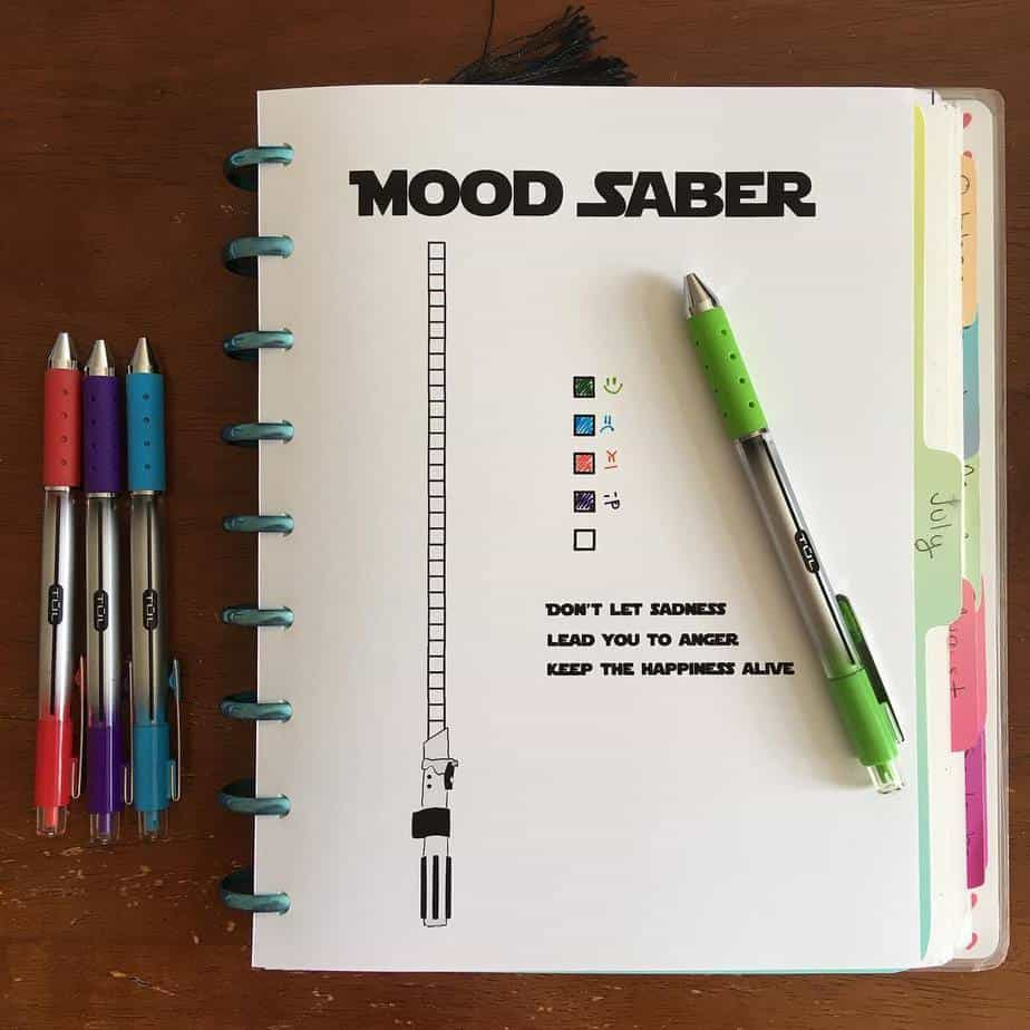 Star Wars Themed Bullet Journal Page by @shastajazz