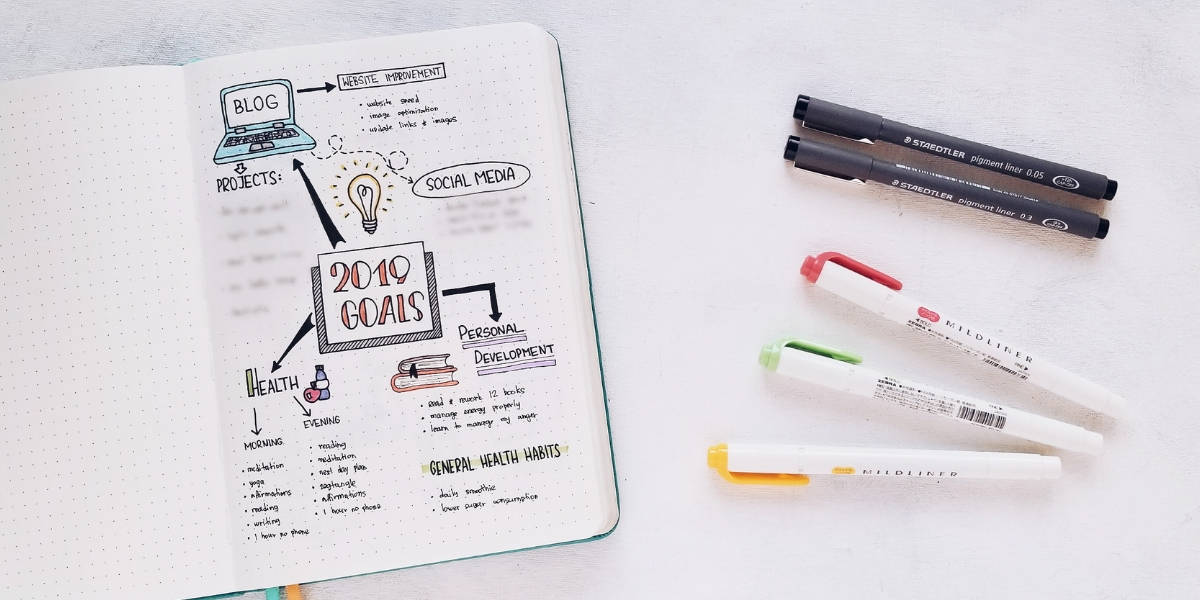 5 Essential Bullet Journal Page Ideas To Start Using Today - Annual Goals | Masha Plans