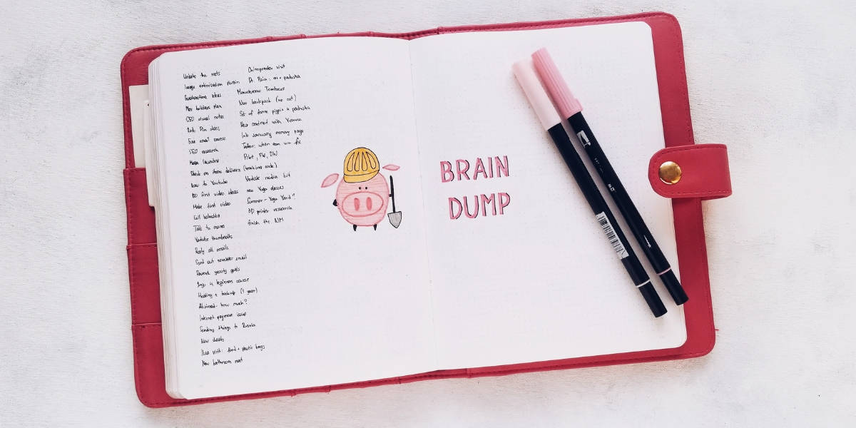5 Essential Bullet Journal Page Ideas To Start Using Today - Brain Dump | Masha Plans