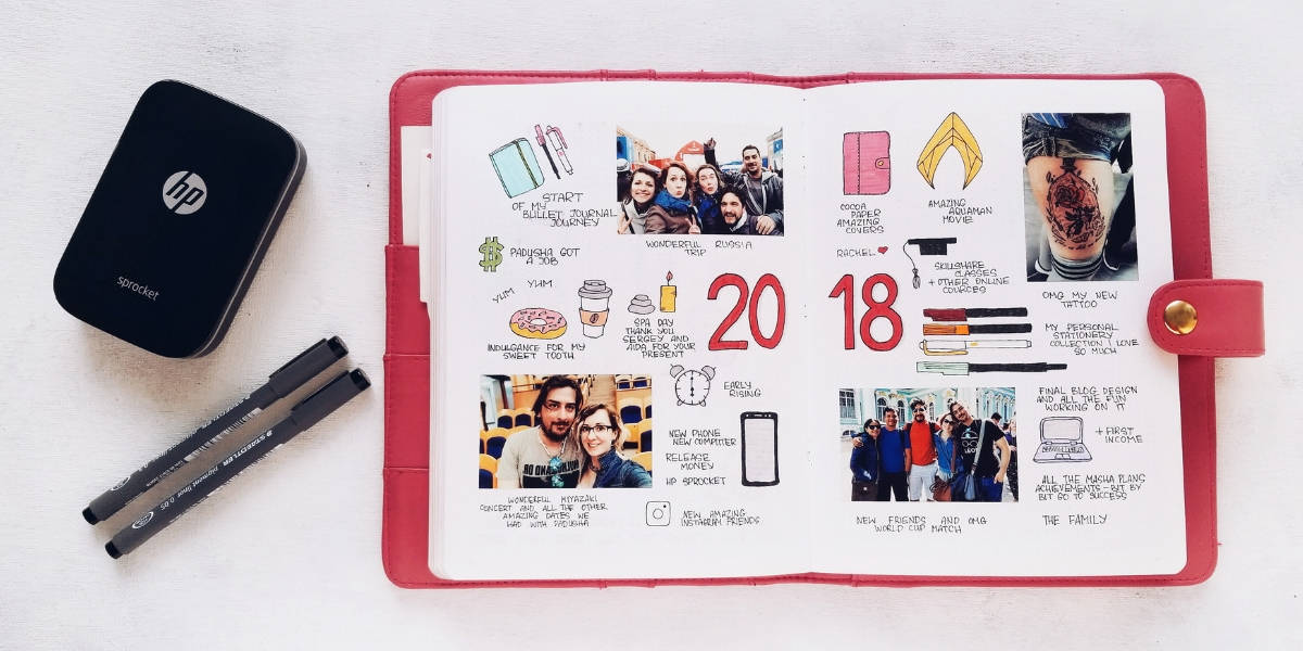 5 Essential Bullet Journal Page Ideas To Start Using Today - Memories Page | Masha Plans