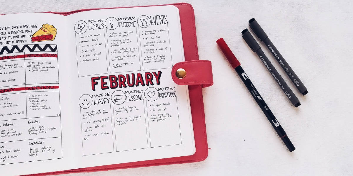 5 Essential Bullet Journal Page Ideas To Start Using Today - Monthly Review | Masha Plans