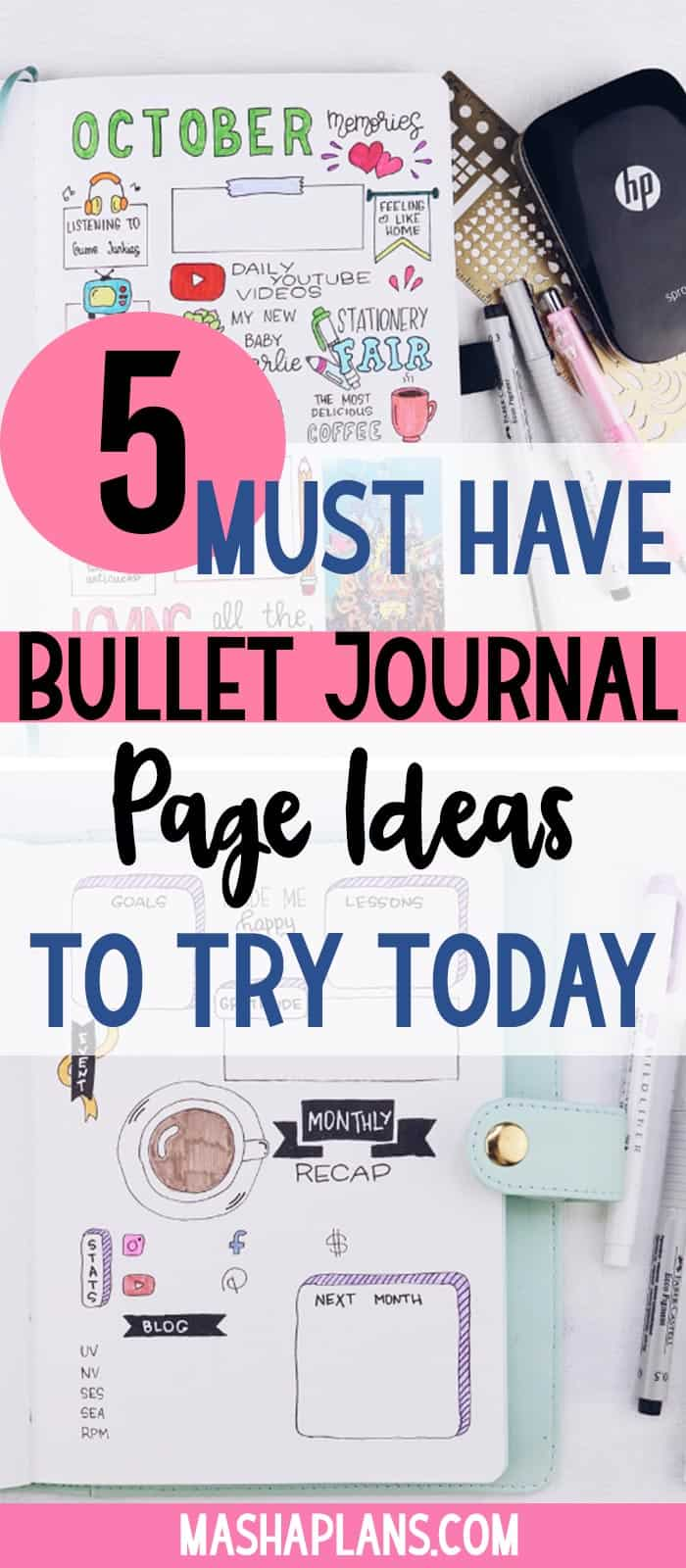 "5 Bullet Journal Ideas For Your ""Must Have"" Pages 