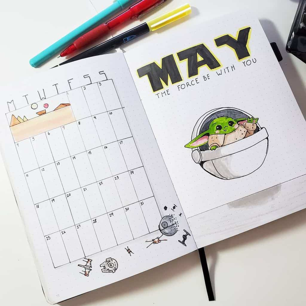 Star Wars Themed Bullet Journal Page by @mela.oodles | Masha Plans