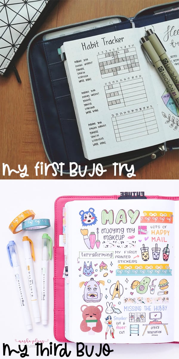 My First And Recent Bullet Journal | Masha Plans
