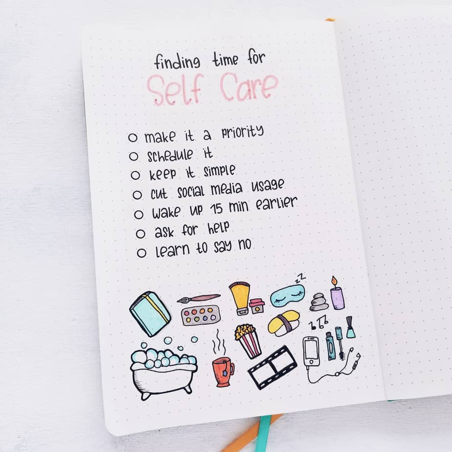 23 Inspirational Self Care Bullet Journal Page Ideas | Masha Plans