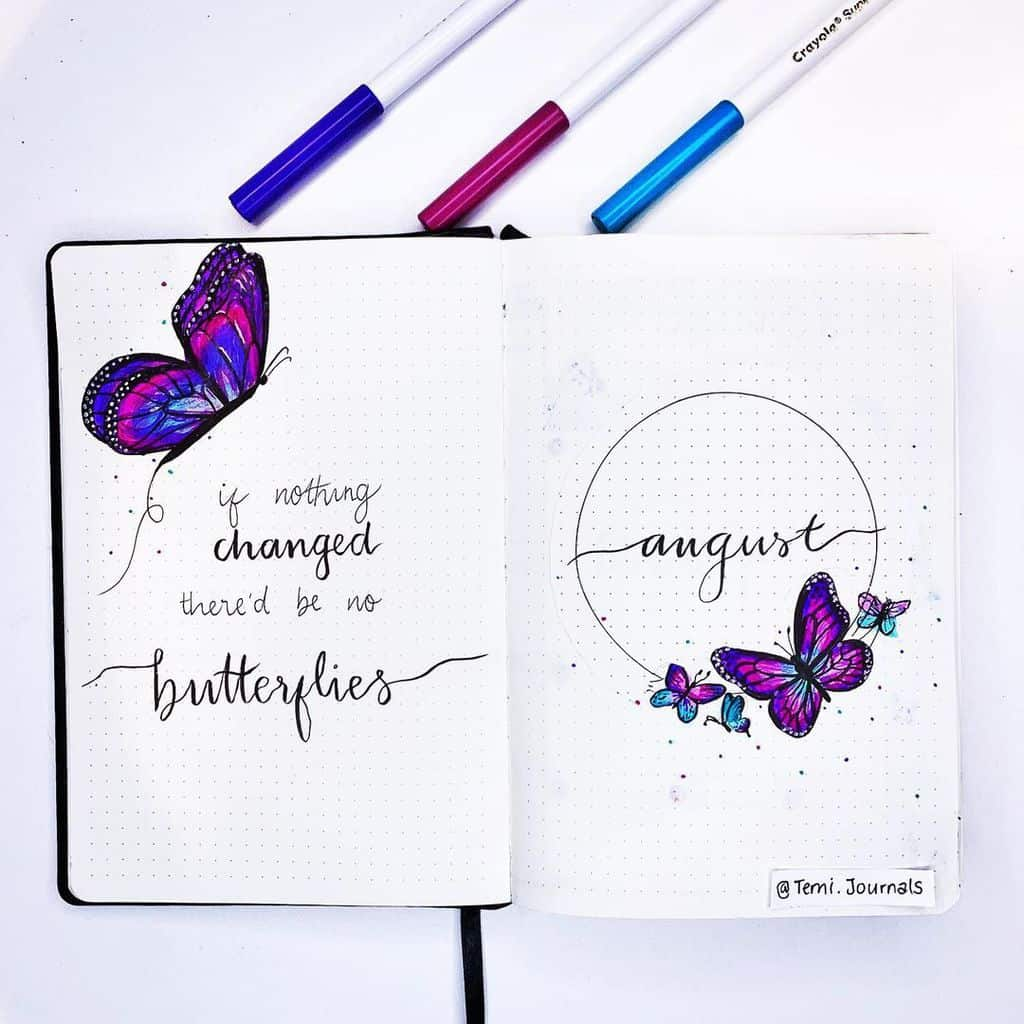 Summer Bullet Journal Theme Ideas, cover page by @temi.journals | Masha Plans