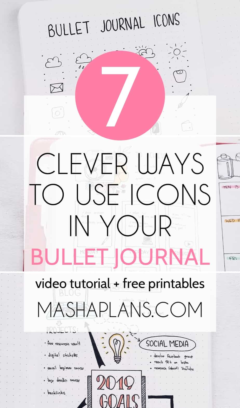 7 Clever Ways To Use Bullet Journal Icons | Masha Plans