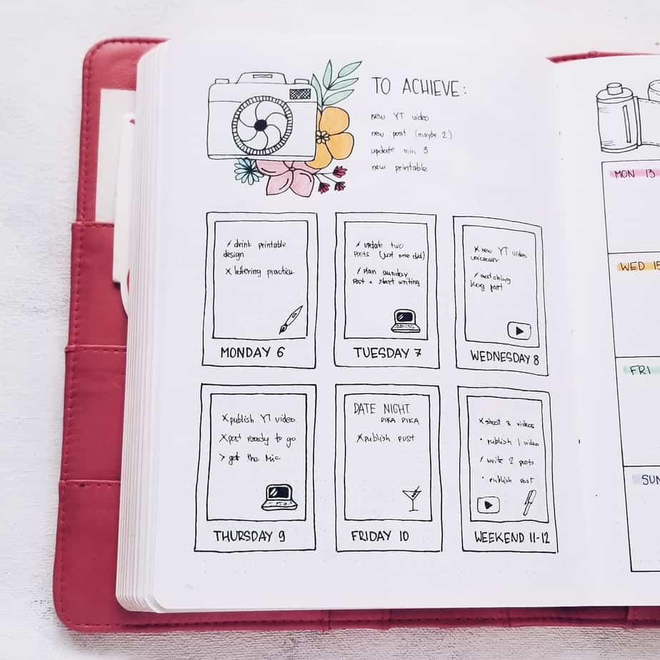 Bullet Journal Icons & How To Use Them To Increase Productivity: In To Do List | Masha Plans