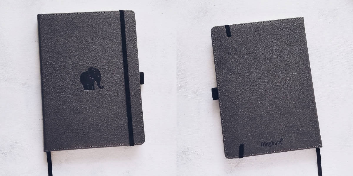 Dingbats Notebook Review: Wildlife Elephant Journal, Cover | Masha Plans