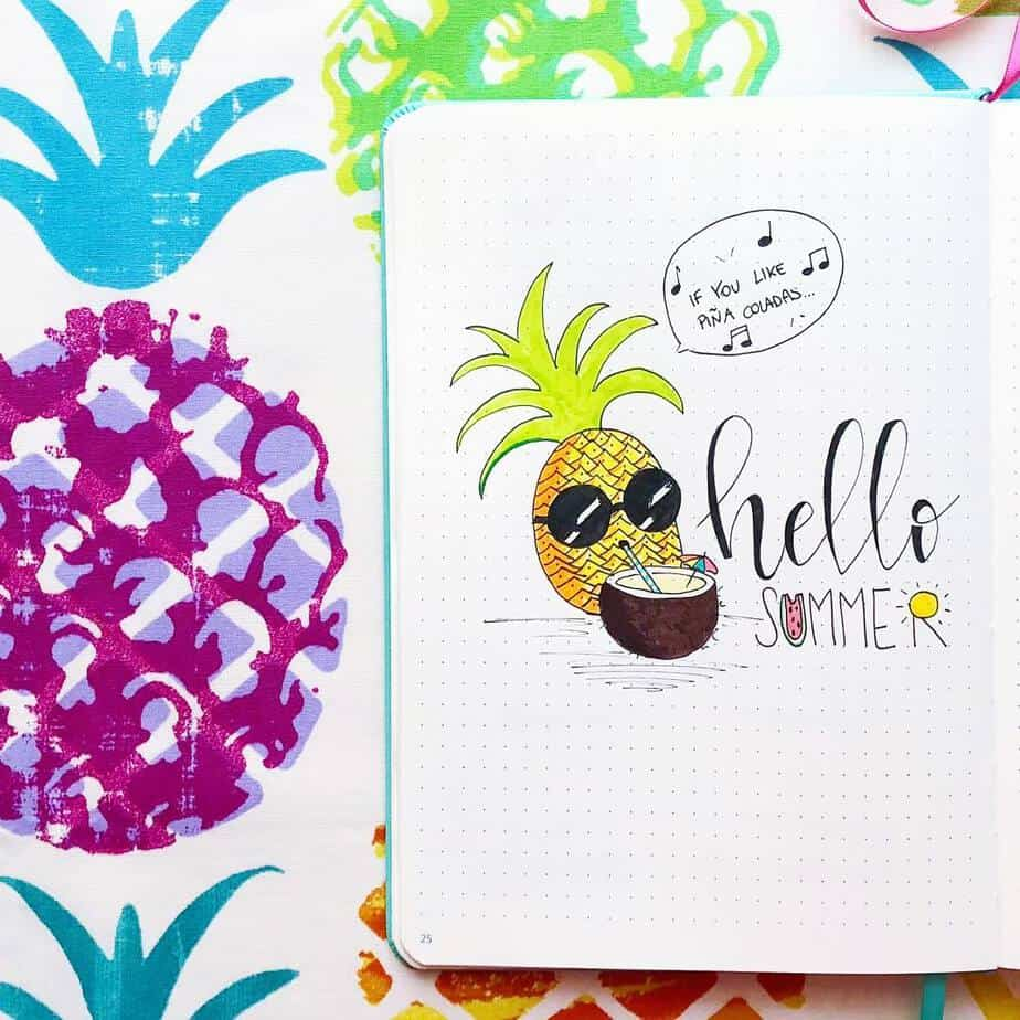 The Ultimate List Of Summer Bullet Journal Theme Ideas | Masha Plans