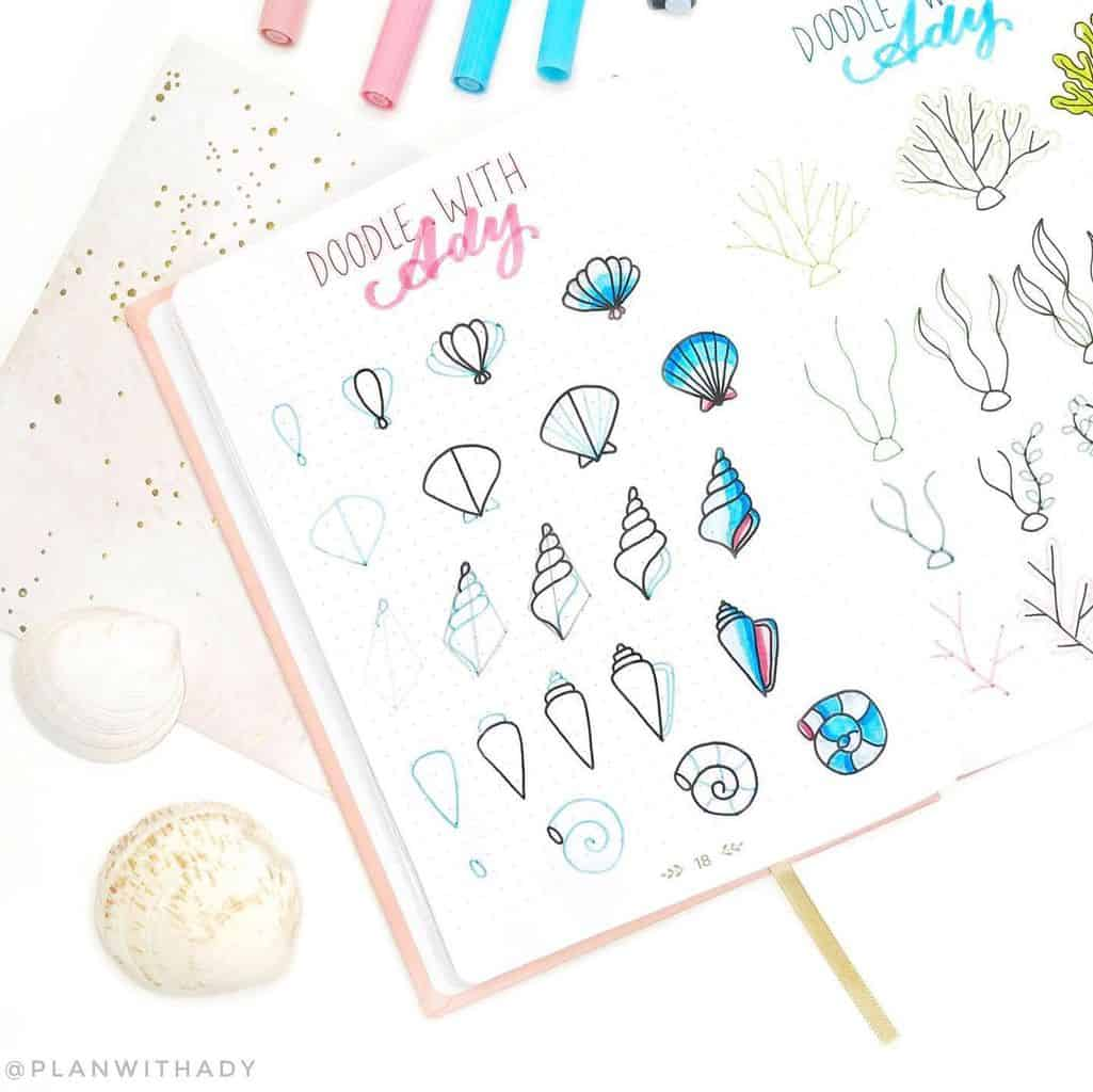 Summer Bullet Journal Doodles by @planwithady | Masha Plans