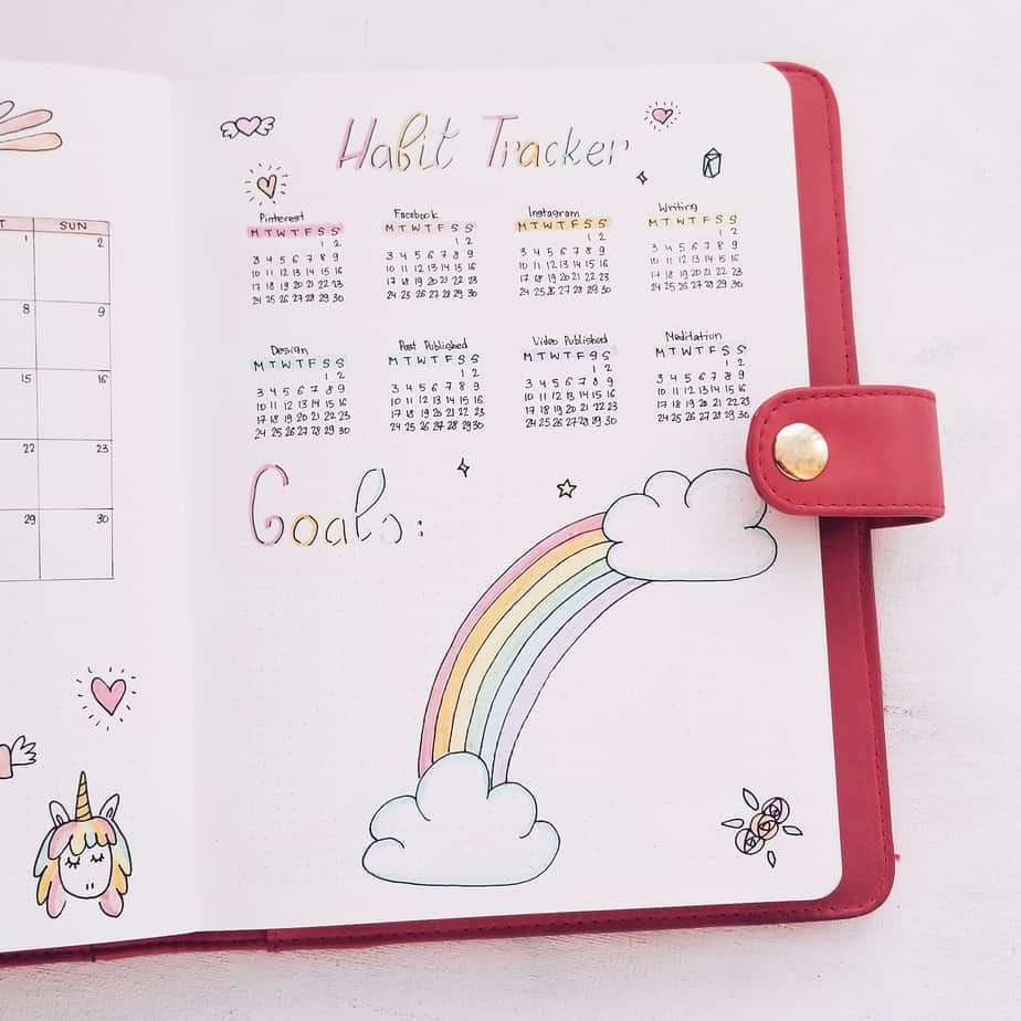 Unicorn Bullet Journal Setup: June Plan With Me, Habit Tracker and Goals | Masha Plans