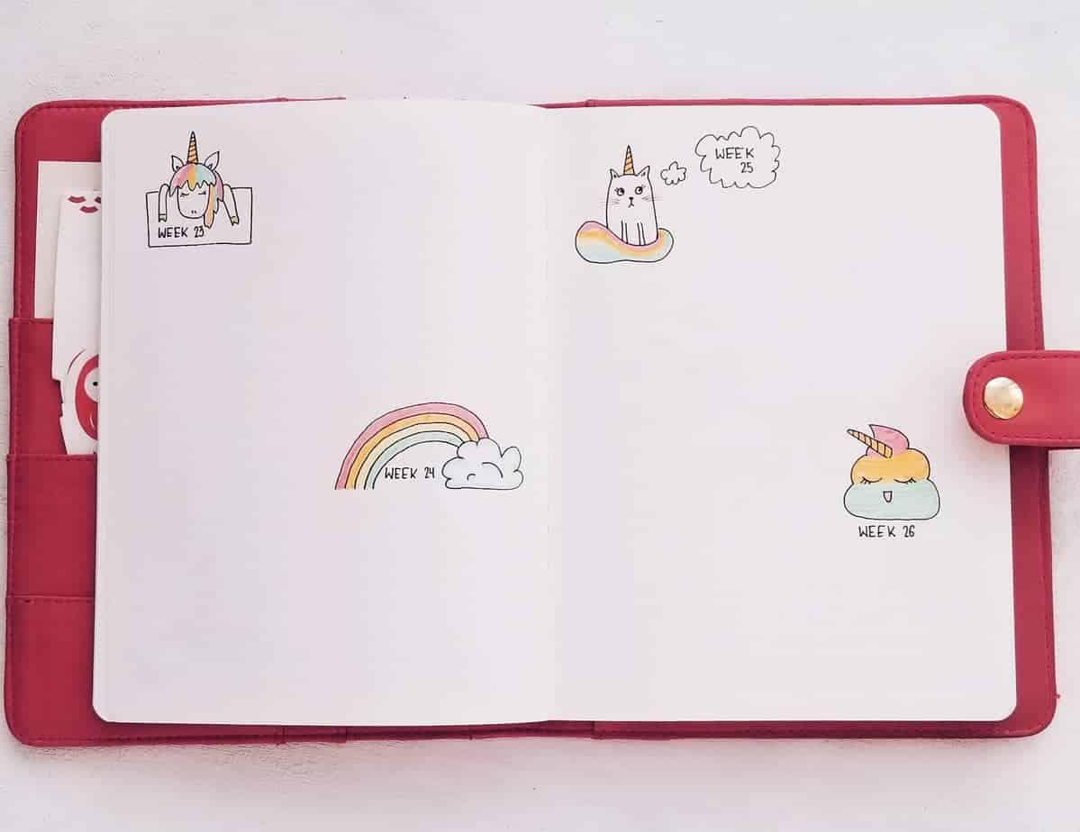 Unicorn Bullet Journal Setup: June Plan With Me, Weekly Spread | Masha Plans