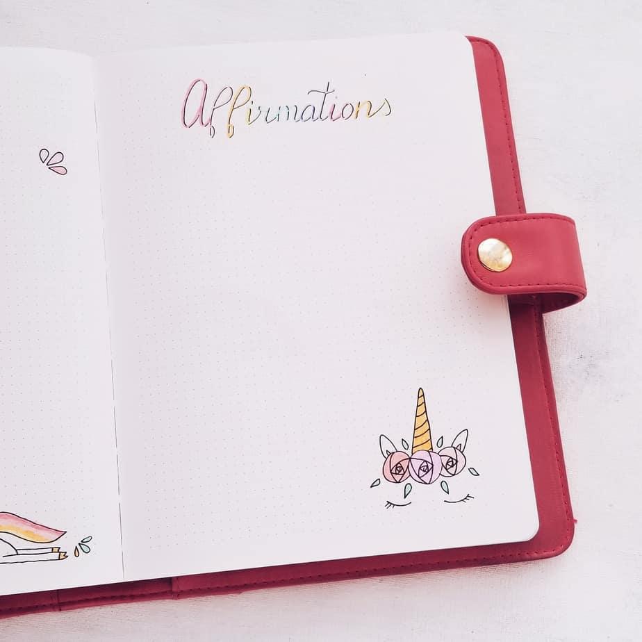 Unicorn Bullet Journal Setup: June Plan With Me, Affirmations| Masha Plans
