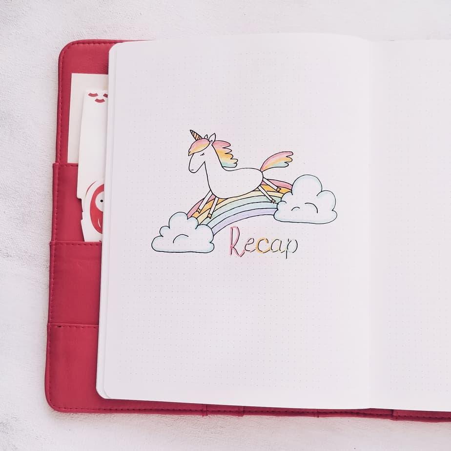 Unicorn Bullet Journal Setup: June Plan With Me, Monthly Recap | Masha Plans