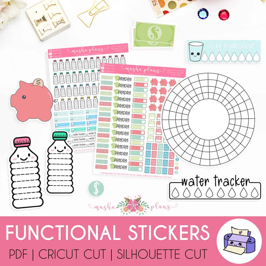 Printable FUnctional Stickers | Masha Plans