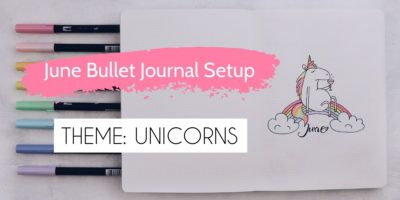 Unicorn Bullet Journal Setup: June Plan With Me | Masha Plans
