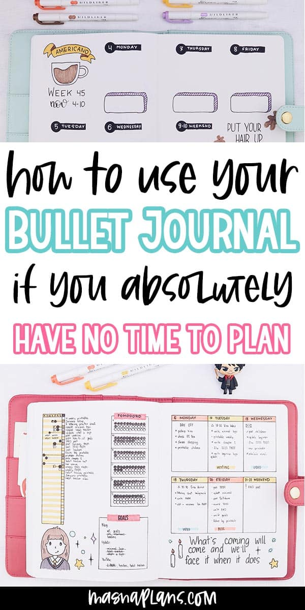 How To Bullet Journal When You Don't Have Time | Masha Plans