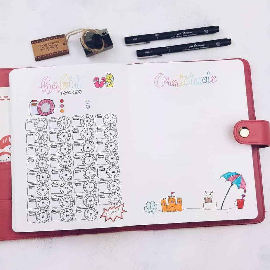Summer Bullet Journal Setup: July Plan With Me, habit tracker, gratitude log | Masha Plans