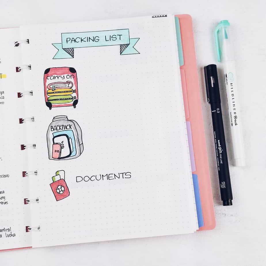 Plan With Me: Travel Bullet Journal Setup, Packing List | Masha Plans