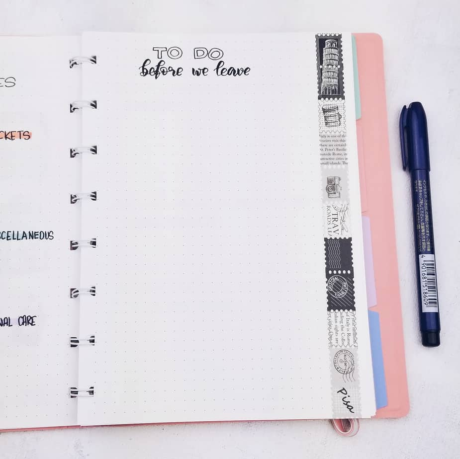 Plan With Me: Travel Bullet Journal Setup, To Do Before Leaving | Masha Plans
