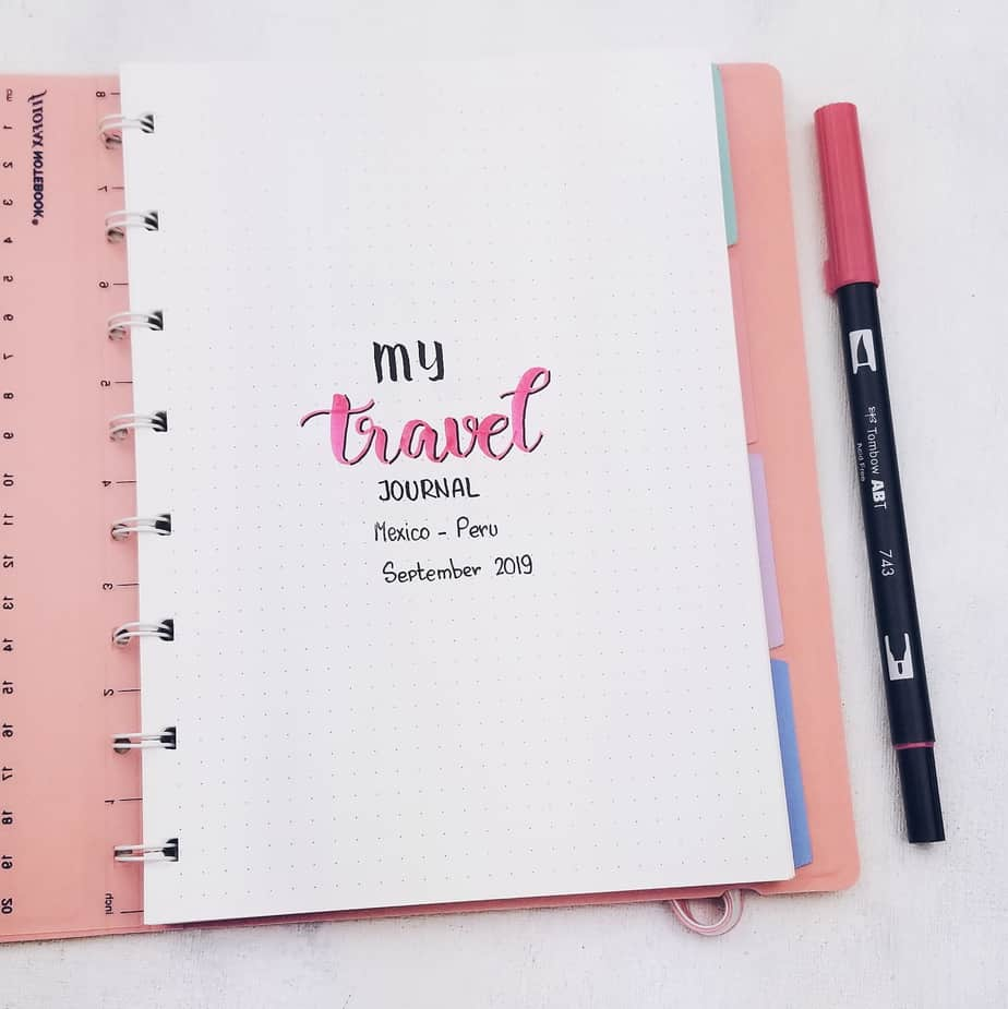 Plan With Me: Travel Bullet Journal Setup, Cover Page | Masha Plans