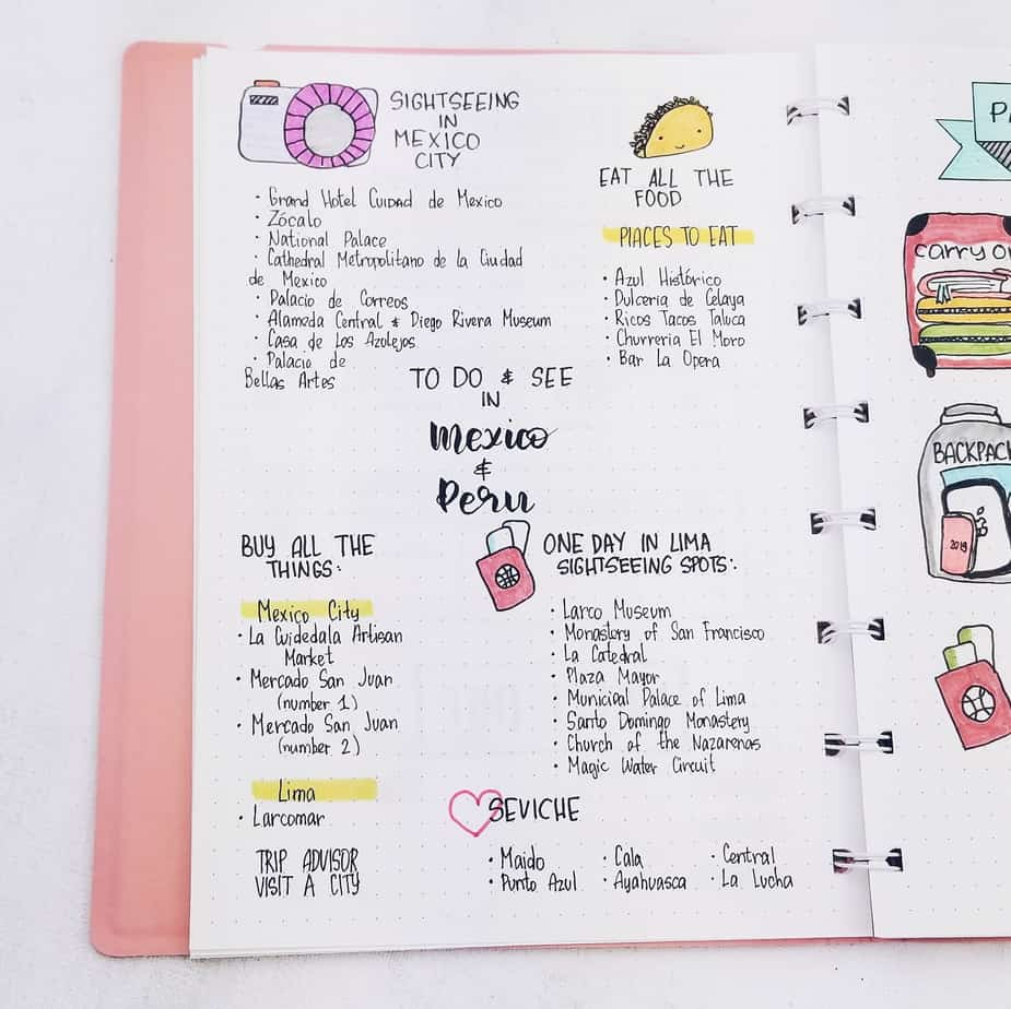 Plan With Me: Travel Bullet Journal Setup, Things To See | Masha Plans