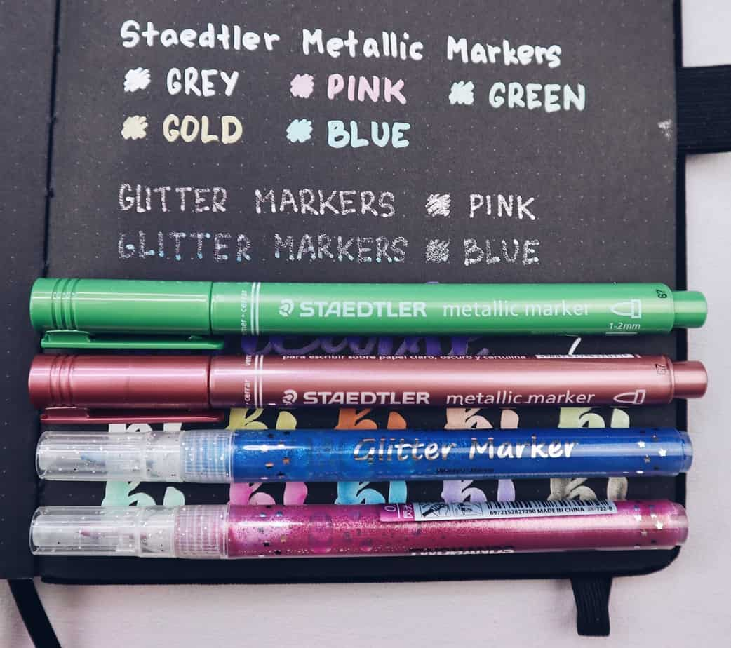 How To Start And Use Archer & Olive Blackout Bullet Journal, Metallic Markers Test | Masha Plans