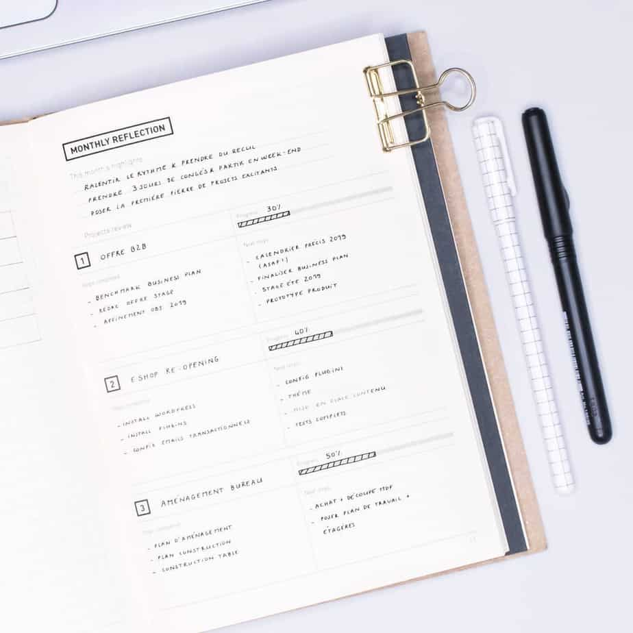 How To Bullet Journal When You Don't Have Time, spread by @minimal.plan | Masha Plans