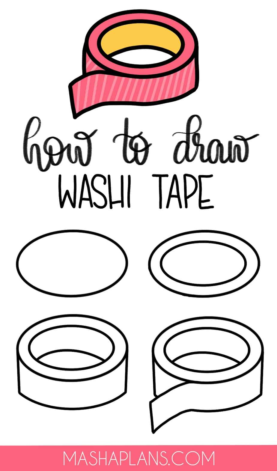 Cute and Easy Stationery Bullet Journal Doodles, Washi Tape | Masha Plans