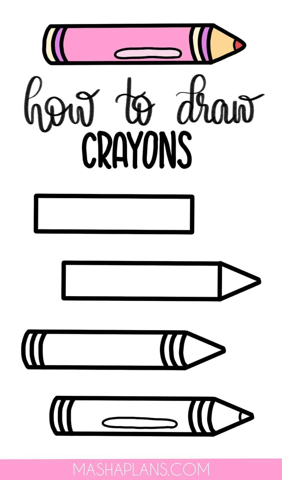Cute and Easy Stationery Bullet Journal Doodles, Crayons | Masha Plans