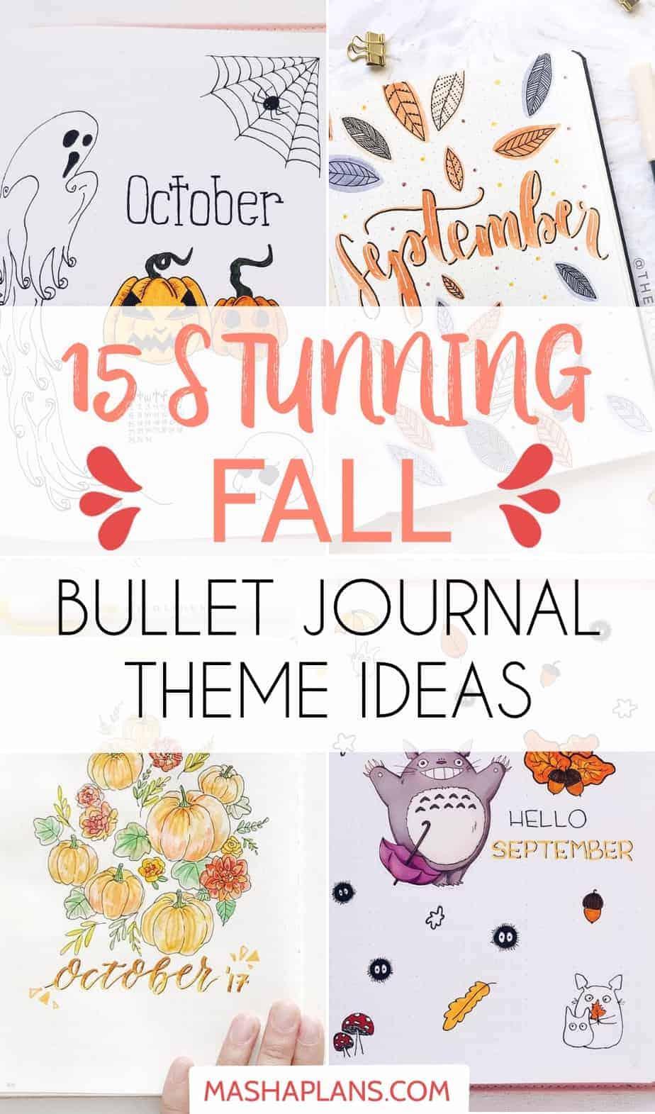 15 Stunning Fall Bullet Journal Theme Ideas | Masha Plans