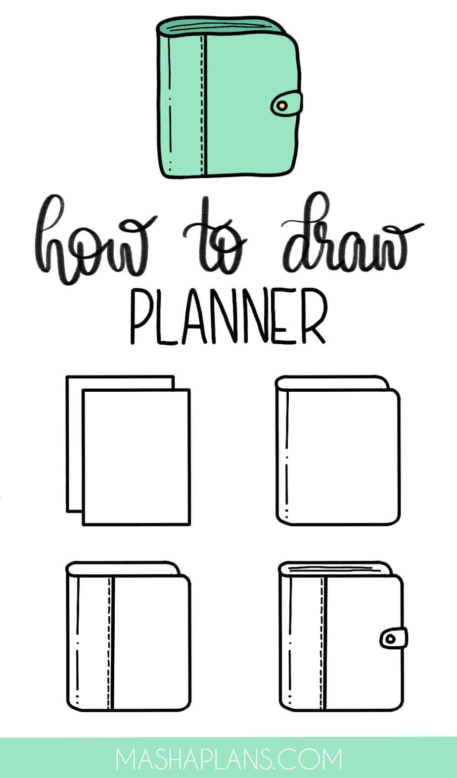 Cute and Easy Stationery Bullet Journal Doodles, Planner | Masha Plans