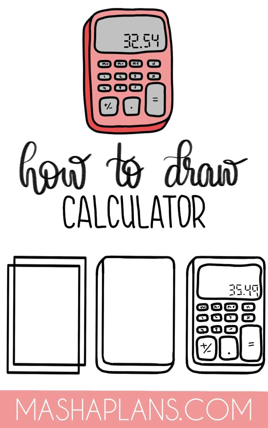Cute and Easy Stationery Bullet Journal Doodles, Calculator | Masha Plans