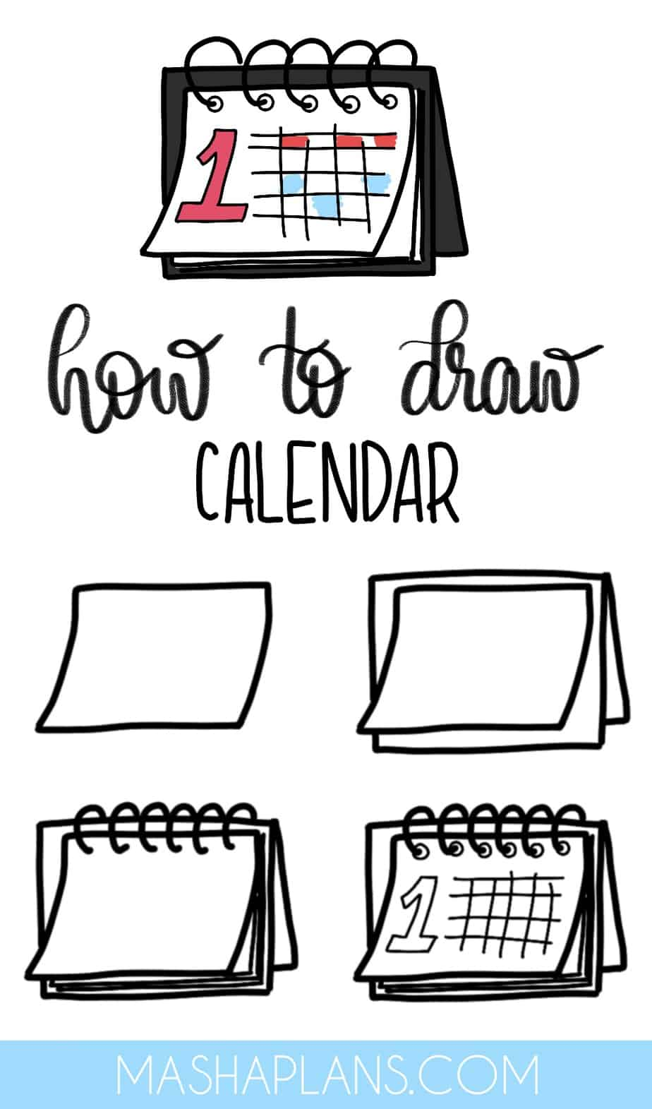 Cute and Easy Stationery Bullet Journal Doodles, Calendar | Masha Plans