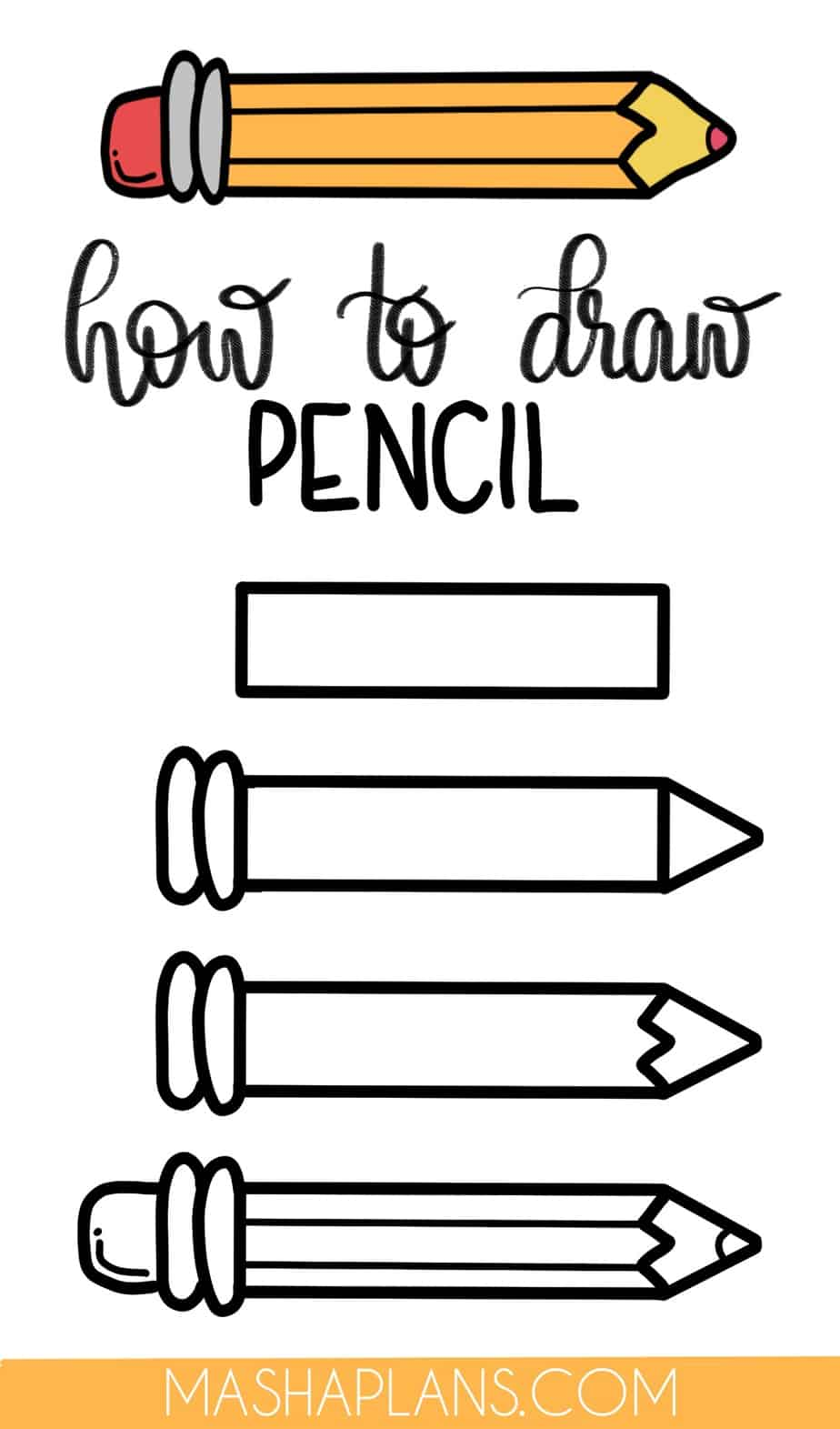 Cute and Easy Stationery Bullet Journal Doodles, Pencil | Masha Plans