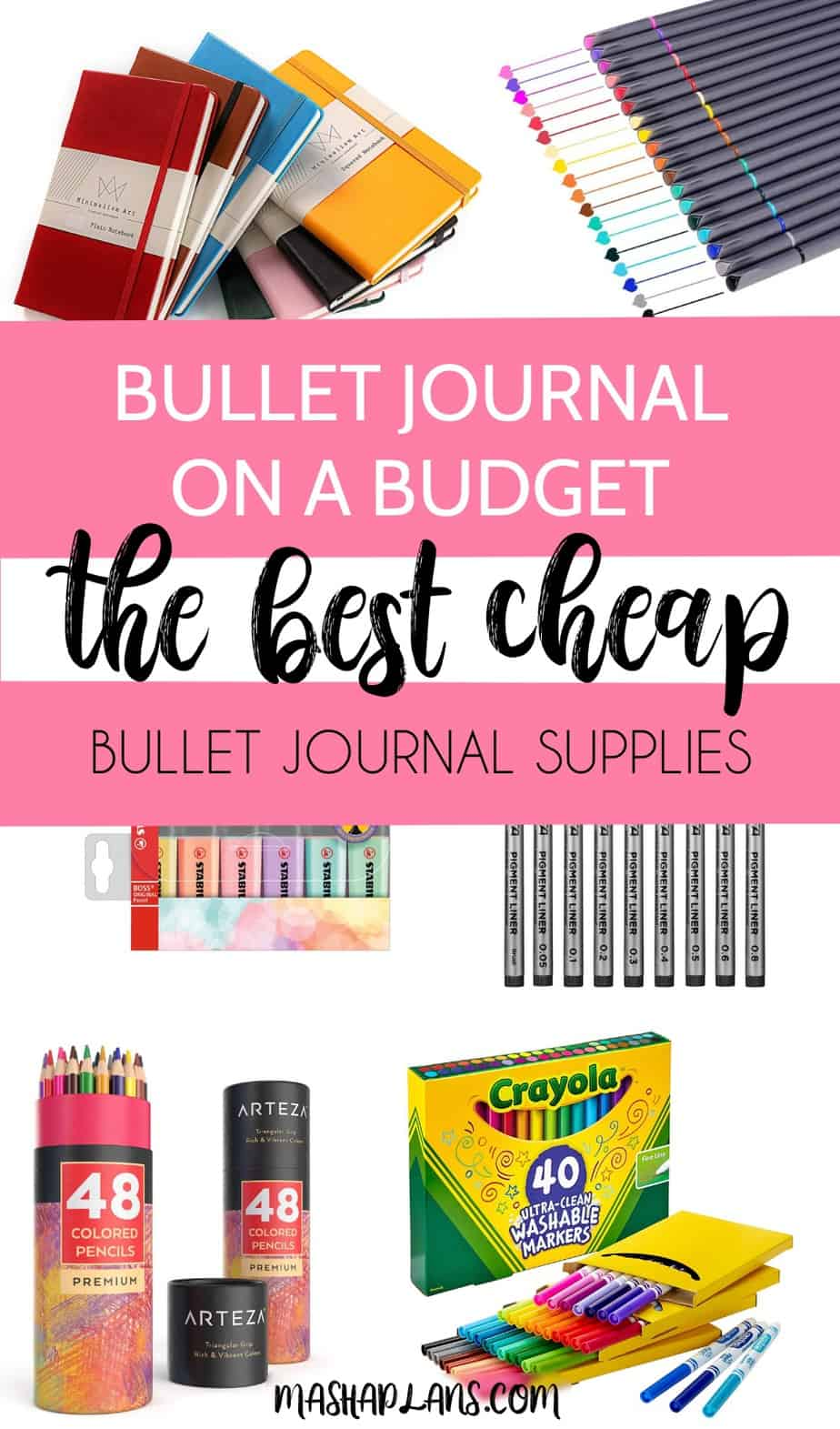 Bullet Journal On A Budget: The Best Cheap Bullet Journal Supplies | Masha Plans