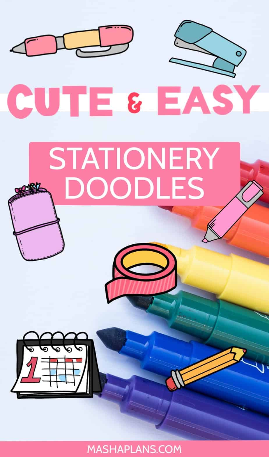 Cute and Easy Stationery Bullet Journal Doodles | Masha Plans