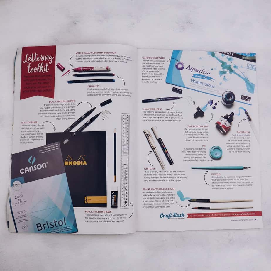 New Way To Learn Lettering: Simply Lettering Magazine | Masha Plans