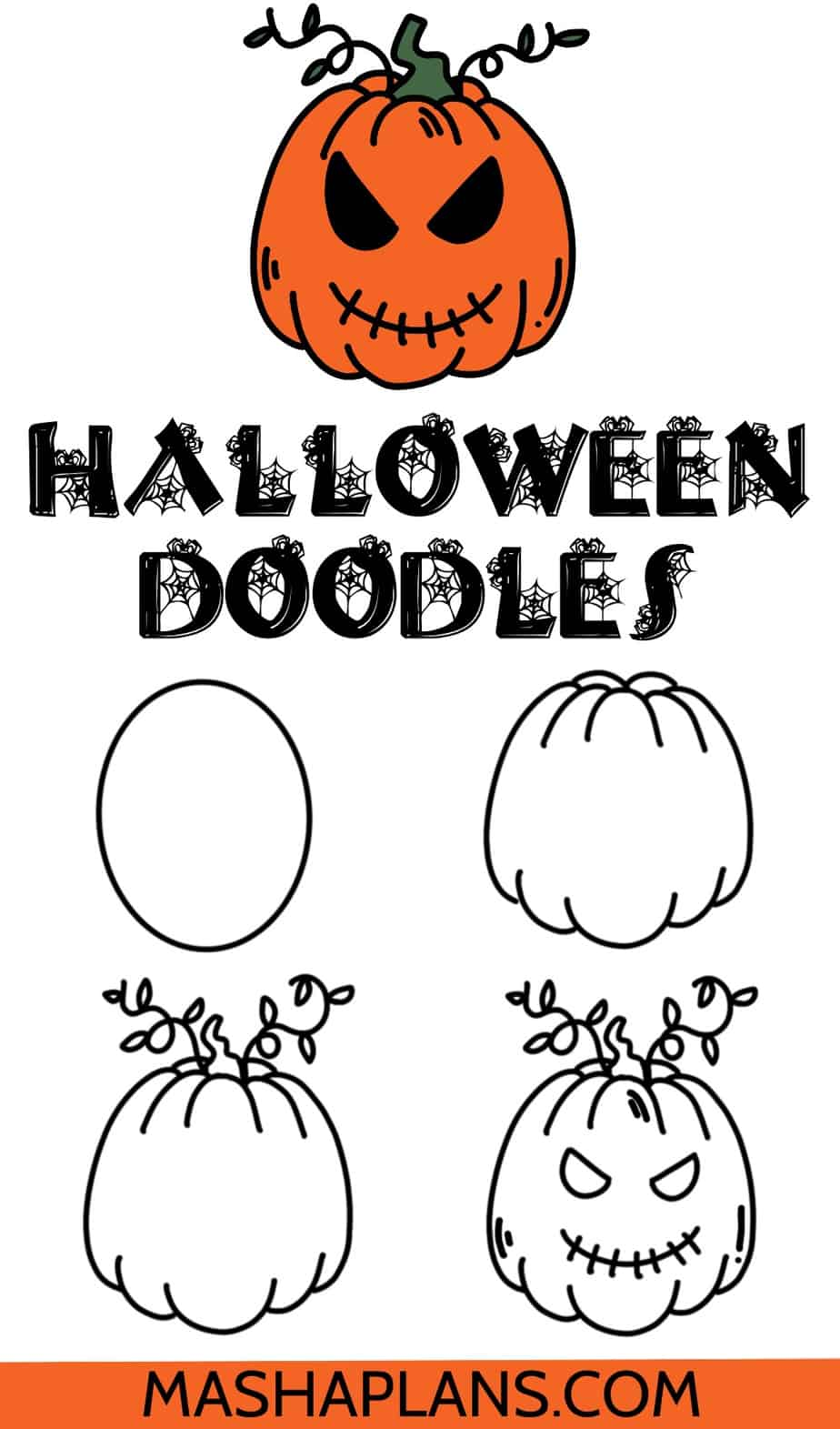 Halloween Bullet Journal Doodles, Pumpkin | Masha Plans